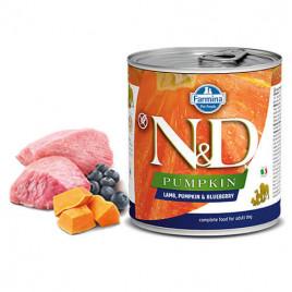N & D Pumpkin Kuzulu Yaban Mersinli Köpek Konservesi 6x285 Gr