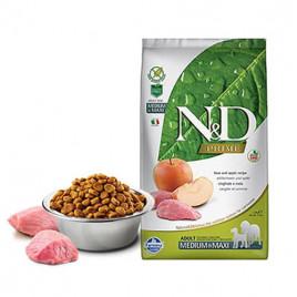 N & D Tahılsız Medium Maxi Domuz& Elma Yetişkin Köpek Maması 12 Kg