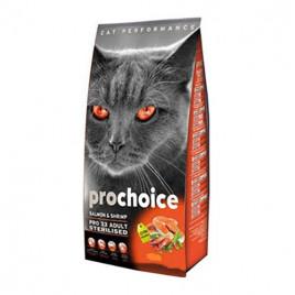 Pro33 Adult Cat Salmon&Karides Kısırlaştırılmış Kedi Maması 15 Kg