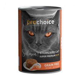 Pro Choice Sterilised Somonlu Kısırlaştırılmış Kedi Konservesi 12x400 Gr