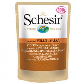 Schesir Gravy Tavuklu Yetişkin Kedi Konservesi 6x100 Gr