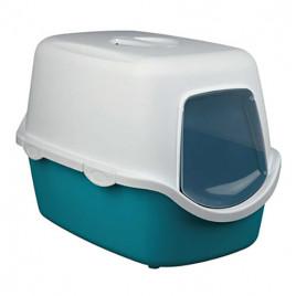 Kedi Kapalı Tuvaleti,40X40X56cm Yeşil-Beyaz