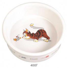 Trixie Kedi Seramik Mama Ve Su Kabı, 0,2Lt/11Cm