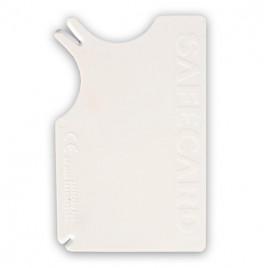 Köpek Kedi Kene Temizlik Kartı Beyaz 8x5 Cm