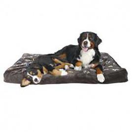 Köpek Yatağı 100x70 Cm, Pati Desenli Gri