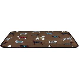 Köpek Yatağı İnce Peluş 70x50 Cm Kahverengi