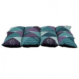 Köpek Yatağı, 70x50 Cm, Açık Yeşil Mor