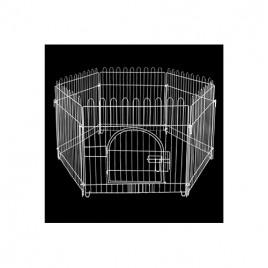 Beyaz  Metal Köpek Çiti 75X70 Cm
