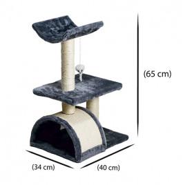 Oturaklı Köprülü Kedi Tırmalama 40x34x65 Cm