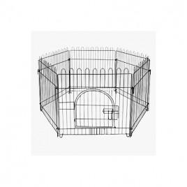 Siyah Metal Köpek Çiti 75X70 Cm